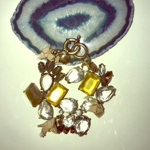 J. Crew  Black & Tan Crystal Bow Bracelet